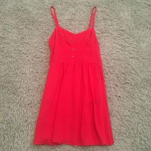 Express Coral Red Dress